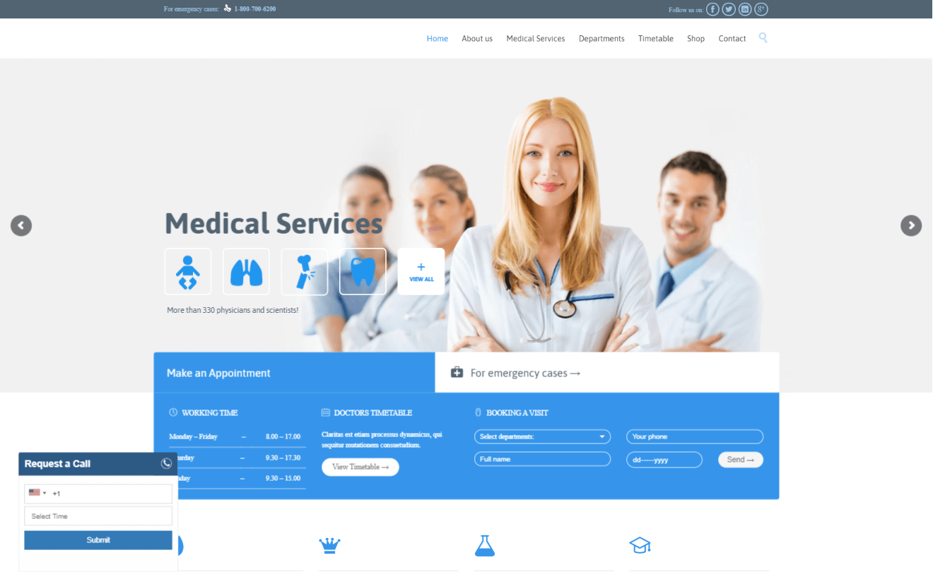 Health Care Website Development