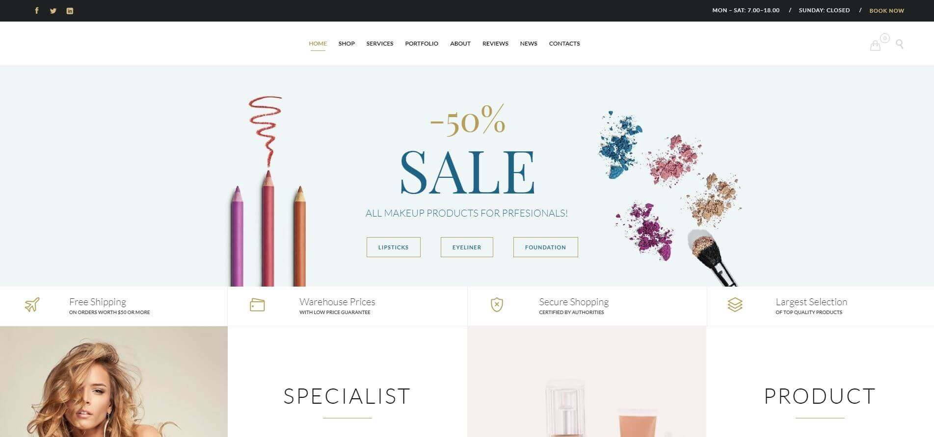 Beauty Industry Website Development