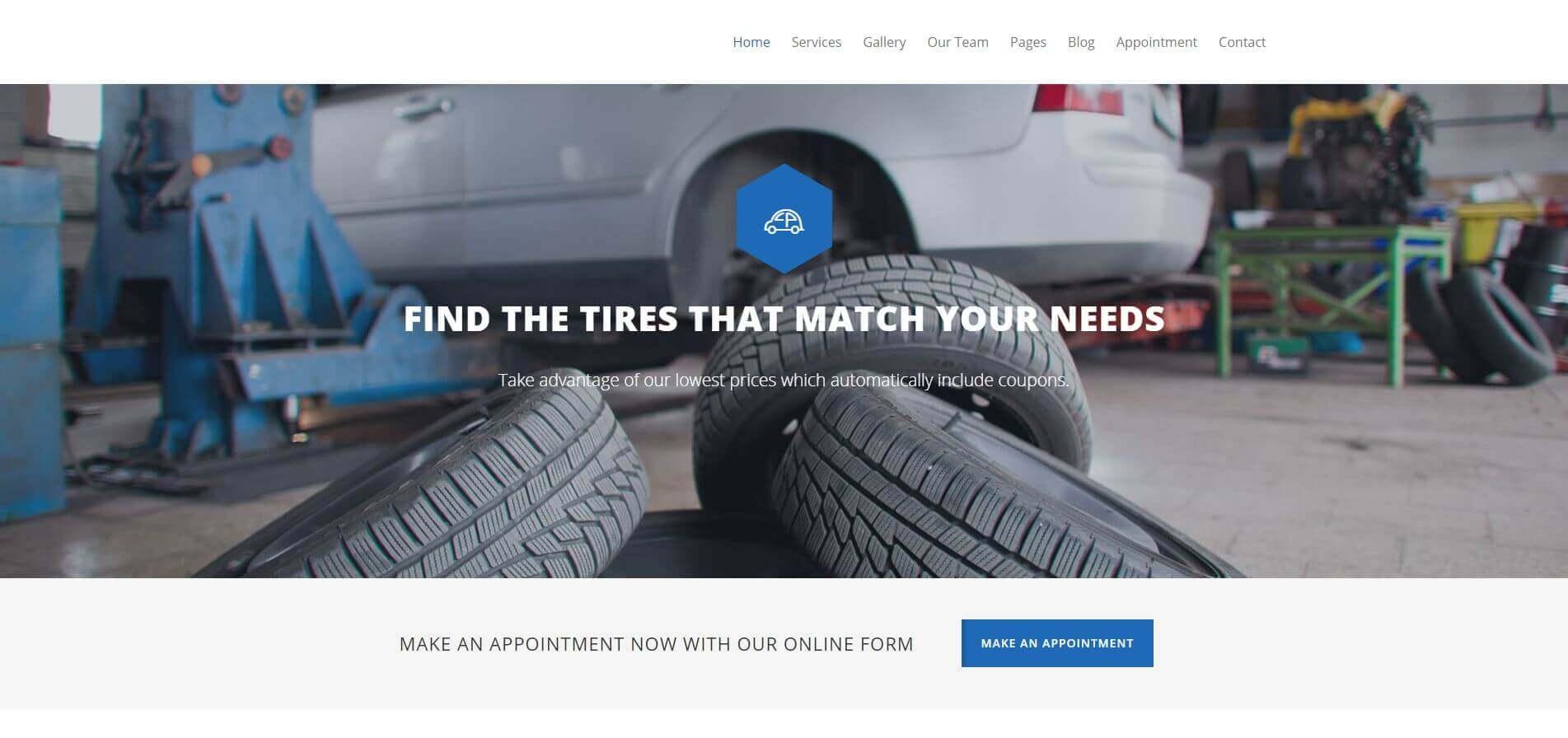 Car Service Website Development
