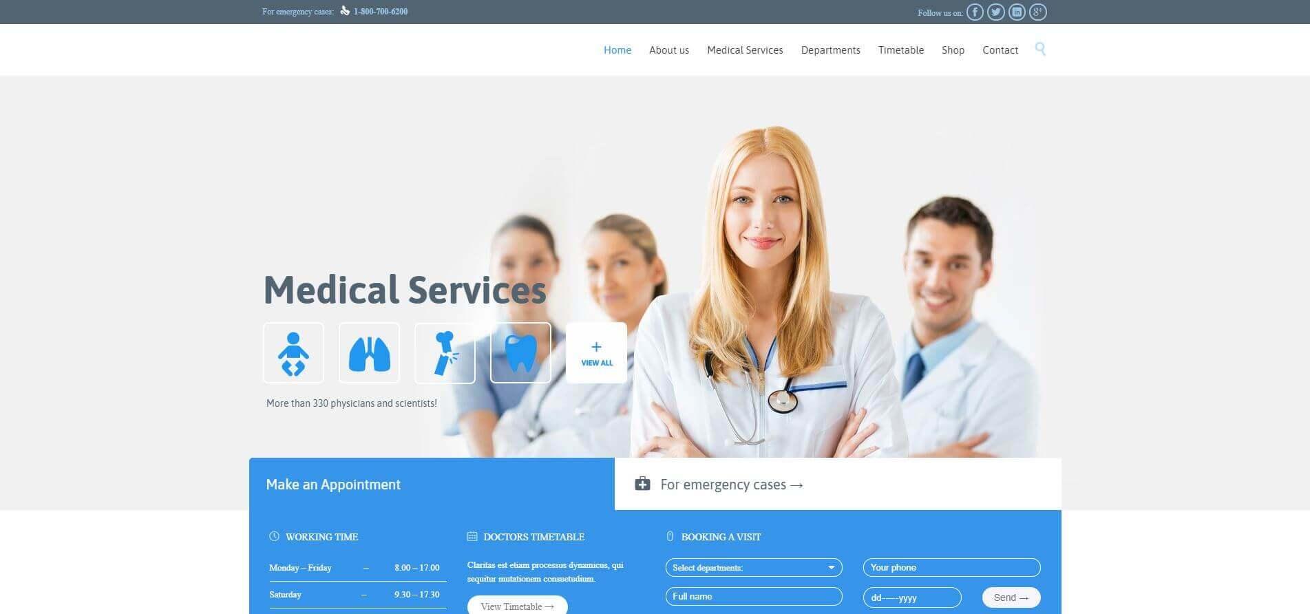 Medical Services - HealthCare Website