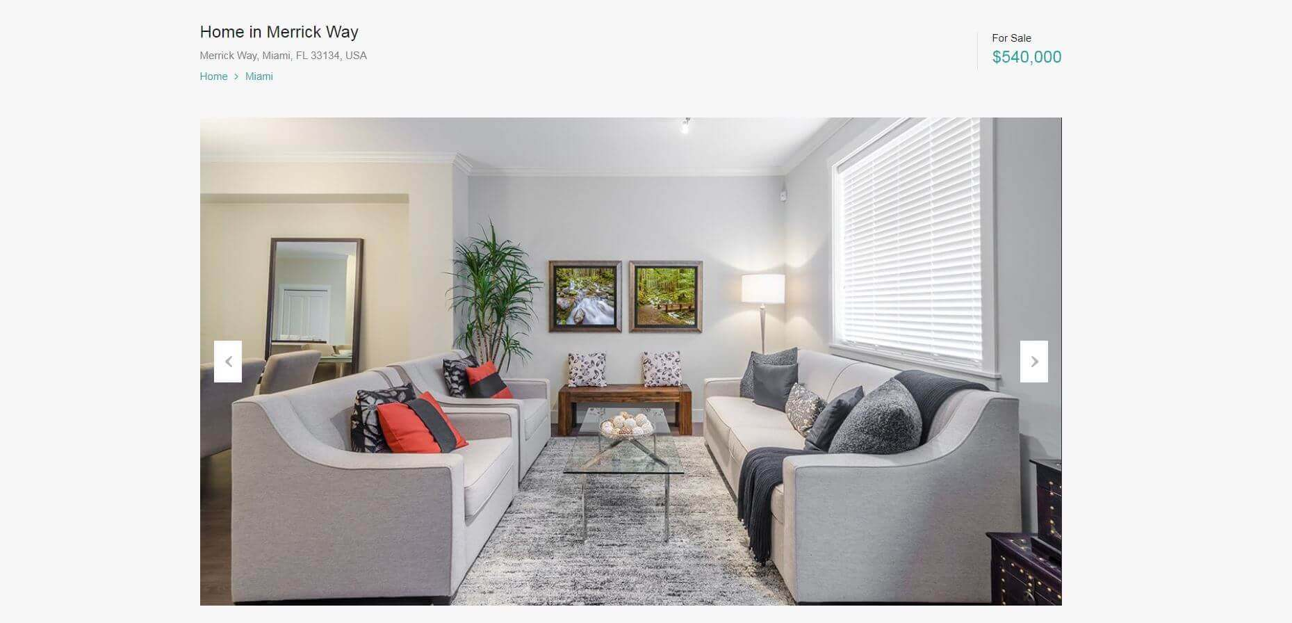 Real Estate Website Property Pages
