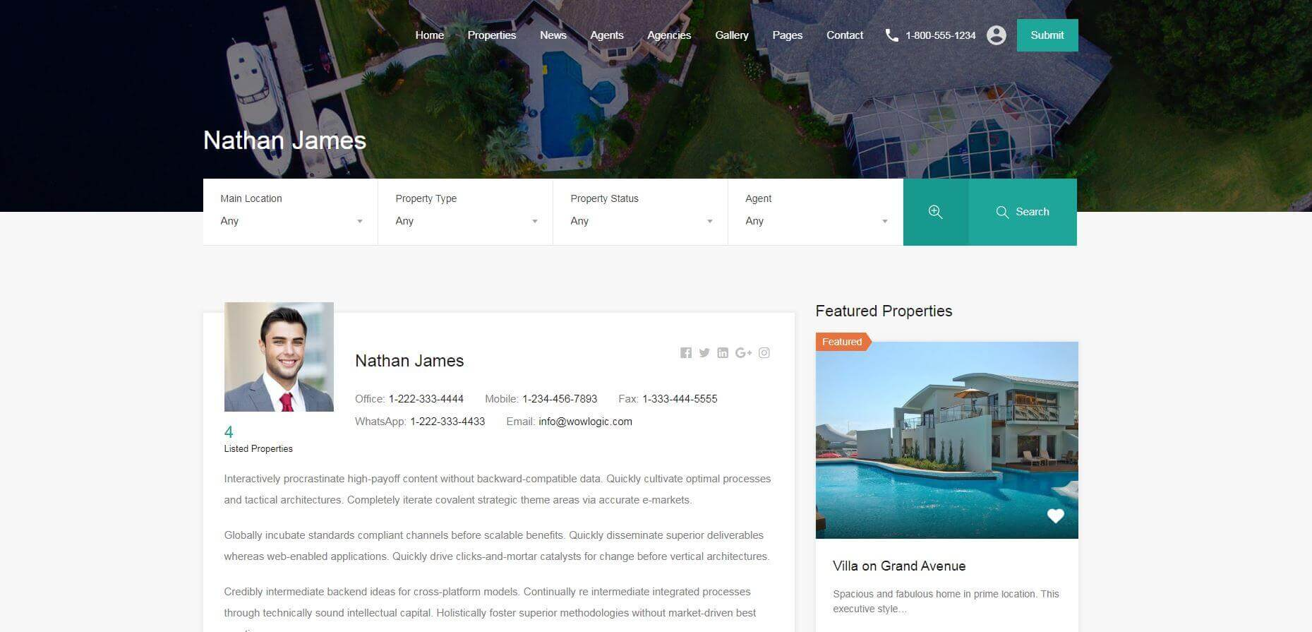 Real Estate Website Agents Pages