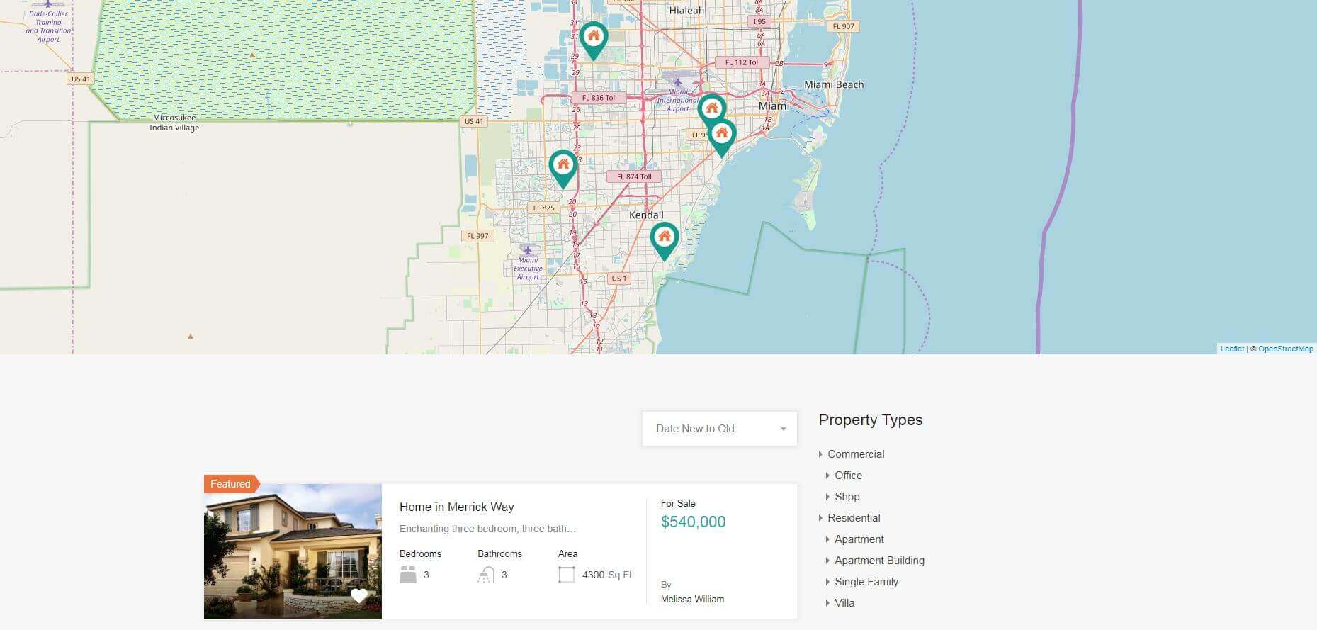 Properties Listing Pages
